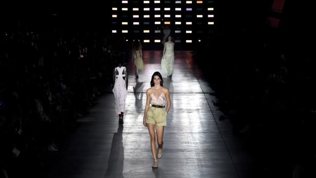 Kendall Jenner walks the runway at the Alberta Ferretti show during Milan Fashion Week Spring/Summer 2019 on September 19 2018 in Milan Italy