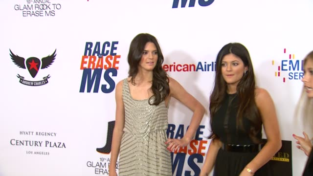 kendall kylie jenner at 19th annual race to erase ms glam rock to erase ms on 5/18/12 in los angeles ca - race to erase ms stock videos and b-roll footage