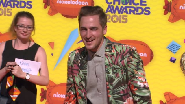 kendall schmidt at nickelodeon's 28th annual kids' choice awards at the forum on march 28 2015 in inglewood california - kendall schmidt stock videos & royalty-free footage