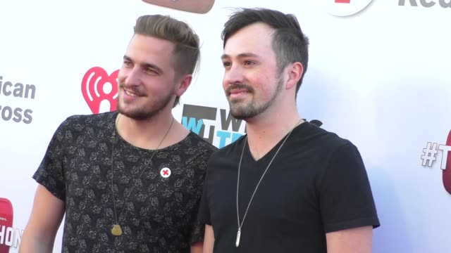 kendall schmidt dustin belt at the what's trending's fourth annual tubeathon benefitting american red cross at iheartradio theatre in burbank... - kendall schmidt stock videos & royalty-free footage