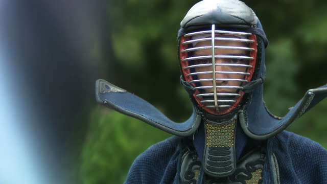 kendo fighter from the front