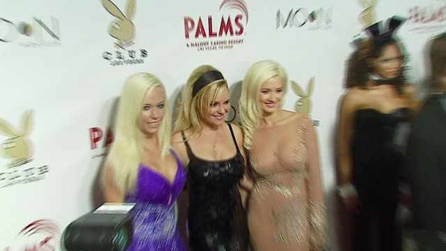 kendra wilkinson bridget marquardt and holly madison at the the playboy club vip grand opening at the palms hotel and casino at the palms hotel... - playboy magazine stock videos and b-roll footage