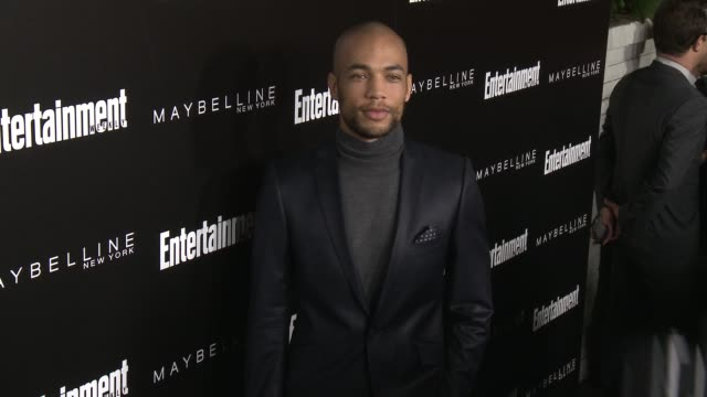kendrick sampson at 2016 entertainment weekly screen actors guild party at chateau marmont on january 29 2016 in los angeles california - entertainment weekly stock-videos und b-roll-filmmaterial