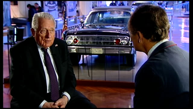 clint hill interview hill talking to reporter / hill along in museum - hill stock videos & royalty-free footage