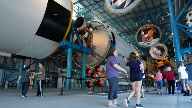 kennedy space center - kennedy space center stock-videos und b-roll-filmmaterial