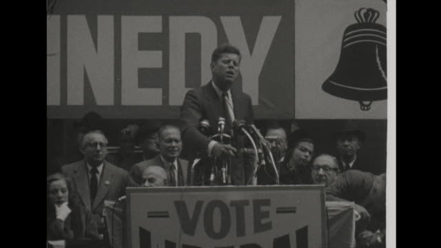 Kennedy speaks in New York at ILGWU Rally