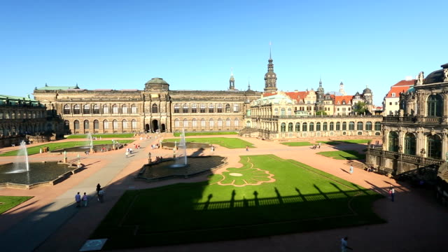 zwinger in dresden - sculpture stock videos & royalty-free footage
