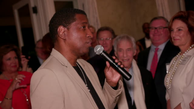 speech kenneth babyface edmonds at kelly fisher katz martin katz host private dinner for the kennedy center's national committee for the performing... - performing arts center stock videos & royalty-free footage