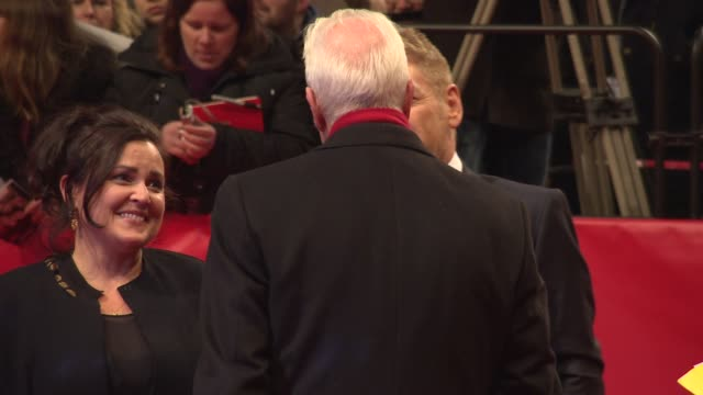 kenneth branagh at 'cinderella' red carpet - 65th berlin film festival at berlinale palace on february 13, 2015 in berlin, germany. - シンデレラ点の映像素材/bロール