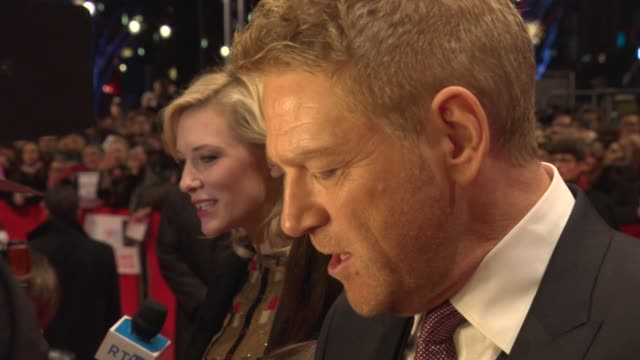 kenneth branagh, cate blanchett at 'cinderella' red carpet - 65th berlin film festival at berlinale palace on february 13, 2015 in berlin, germany. - シンデレラ点の映像素材/bロール