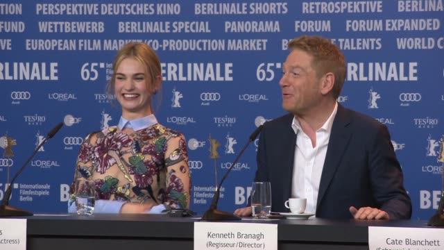 interview kenneth branagh on how great the crew were lily james richard madden on there first dance the whole crew watching the first dance at... - komplett stock-videos und b-roll-filmmaterial