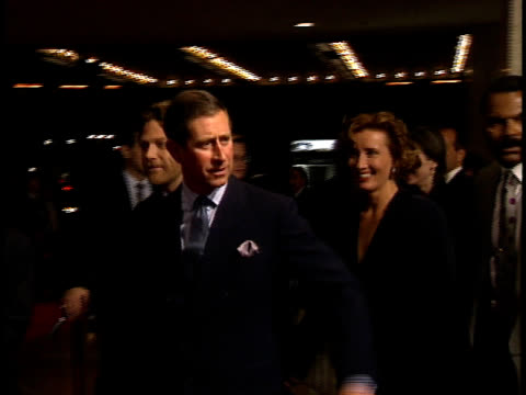 kenneth branagh prince charles of wales and emma thompson walk together on the red carpet - emma thompson stock videos & royalty-free footage
