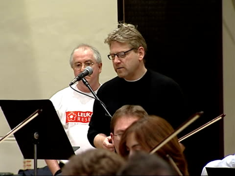 kenneth branagh to direct charity concert for leukaemia research interviews with branagh and patrick doyle / rehearsals doyle speaking with branagh /... - london symphony orchestra stock videos & royalty-free footage
