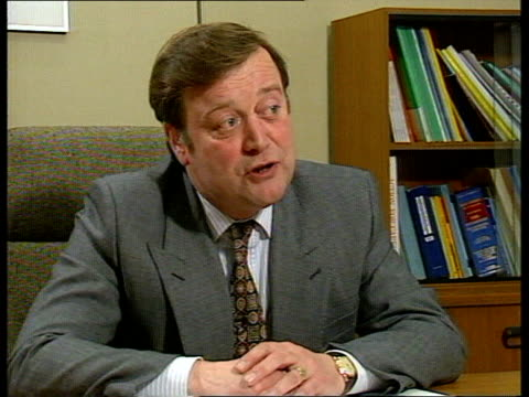 kenneth clarke profile cms clarke intvwd sof ironically i was trying to let them know that it wasn't a threat to their incomes but it's become just... - kenneth clarke stock-videos und b-roll-filmmaterial