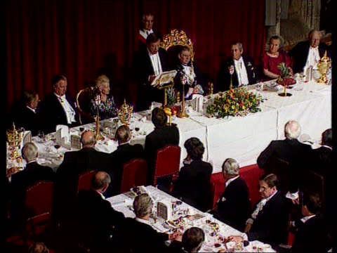 kenneth clarke tax statement pool tgv clarke making speech at guildhall tlms ditto cms ditto - kenneth clarke stock-videos und b-roll-filmmaterial