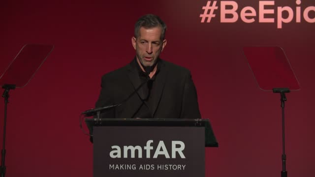 SPEECH Kenneth Cole at 20th Annual amfAR Gala New York at Cipriani Wall Street on February 07 2018 in New York City