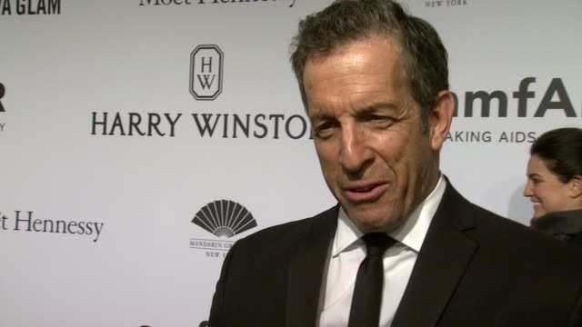 interview kenneth cole on amfar's progress and the evening at 2015 amfar new york gala at cipriani wall street on february 11 2015 in new york city - amfar stock videos & royalty-free footage