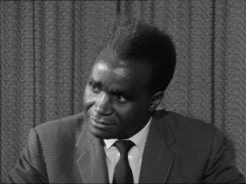 kenneth kaunda interview; england: london: lap : int kenneth kaunda interview sof neg: 16mm. itn - itv evening bulletin stock videos & royalty-free footage