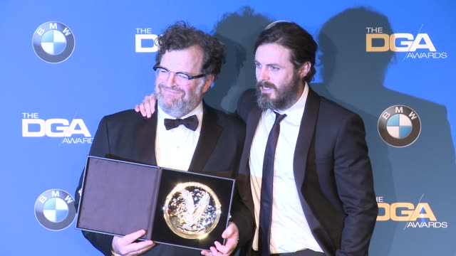kenneth lonergan casey affleck at 69th annual directors guild of america awards in los angeles ca - directors guild of america awards stock videos & royalty-free footage