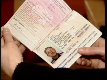 kenneth noye found guilty of murder; kenneth noye found guilty of murder; itn css fake passport used by noye in name 'alan green' - kenneth noye stock videos & royalty-free footage
