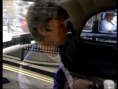 kenneth noye found guilty of murder; kenneth noye found guilty of murder; itn lib ext kenneth noye's wife brenda noye sitting in back of taxi - kenneth noye stock videos & royalty-free footage