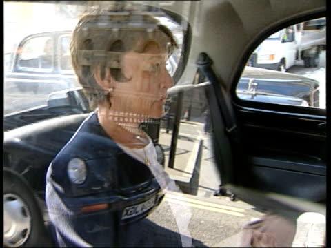 kenneth noye found guilty of murder; kenneth noye found guilty of murder; itn london: old bailey: kenneth noye's wife brenda noye sitting in back of... - kenneth noye stock videos & royalty-free footage