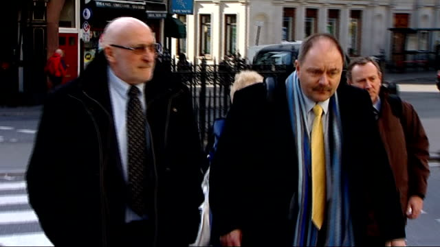 kenneth noye road rage murder appeal begins; england: london: royal courts of justice: ext family members of stephen cameron arriving at court - kenneth noye stock videos & royalty-free footage