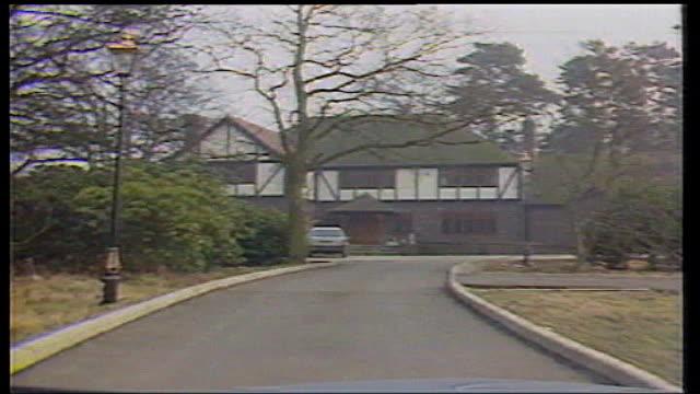 kenneth noye road rage murder appeal begins; kent: west kingsdown: tx 6 may 1986 / 135861 ext driver point of view as towards noye's mock tudor... - kenneth noye stock videos & royalty-free footage
