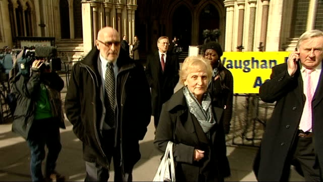 kenneth noye road rage murder appeal begins london royal courts of justice ext family members of stephen cameron departing court and away down fleet... - murder stock videos & royalty-free footage
