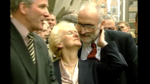 kenneth noye road rage murder conviction will be referred to court of appeal; may 1999: london: old bailey: ken & toni cameron posing for photocall... - kenneth noye stock videos & royalty-free footage