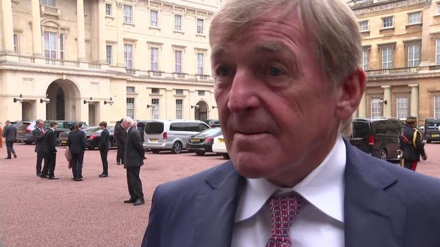 Kenny Dalglish receives knighthood ENGLAND London Buckingham Palace EXT Sir Kenny Dalglish interview SOT