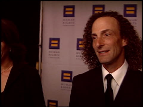 stockvideo's en b-roll-footage met kenny g at the human rights campaign honors barbra streisand at the century plaza hotel in century city, california on march 6, 2004. - barbra streisand