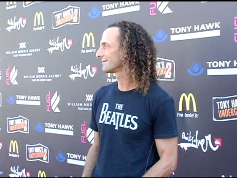 kenny g at the tony hawk stand up for skateparks benefit at pinz bowling alley in studio city california on october 3 2004 - studio city stock videos & royalty-free footage