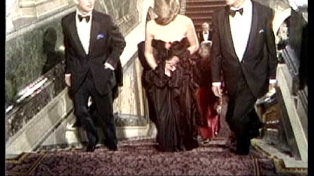 stockvideo's en b-roll-footage met kensington palace reopens to the public after refurbishment 108750 / tx **arch interview partly overlaid sot** prince charles and lady diana spencer... - 1981