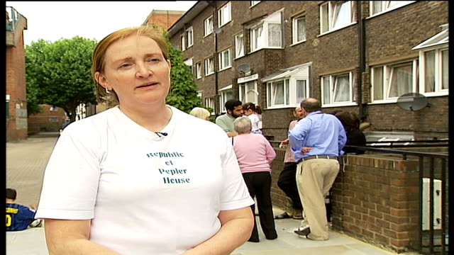residents of peplar house declare their own republic emma dent coad interview sot keith stirling interview sot - スコットランド スターリング点の映像素材/bロール