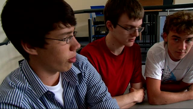 kent schoolboys compete with nasa to develop radiation detecting chip england kent canterbury int pupils gathered round laptop computer boys using... - kent england stock videos & royalty-free footage
