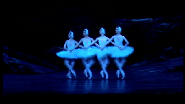 kent tonbridge int ** music overlaid sot ** members of english national ballet dancing across stage as rehearsing for production of 'the nutcracker'... - the nutcracker named work stock videos & royalty-free footage