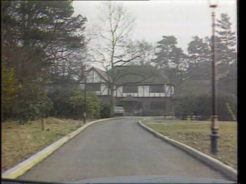 w kingstown track forward along drive to noye's house - kenneth noye stock videos & royalty-free footage