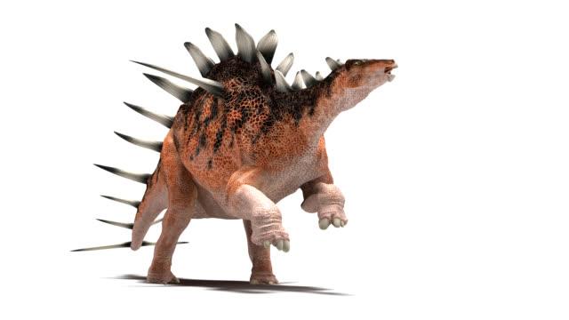 kentrosaurus dinosaur running - jurassic stock videos & royalty-free footage