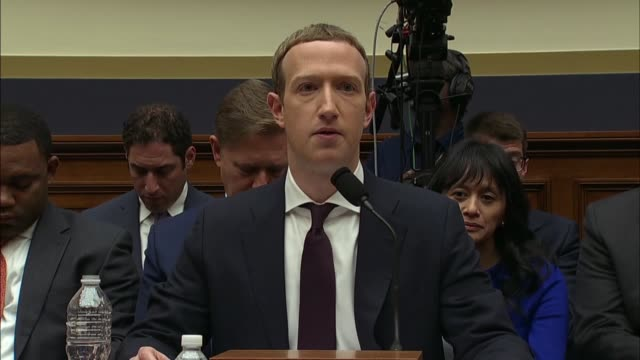kentucky congressman david kustoff asks facebook ceo mark zuckerberg at a house financial services committee hearing whether facebook to become a... - economia video stock e b–roll