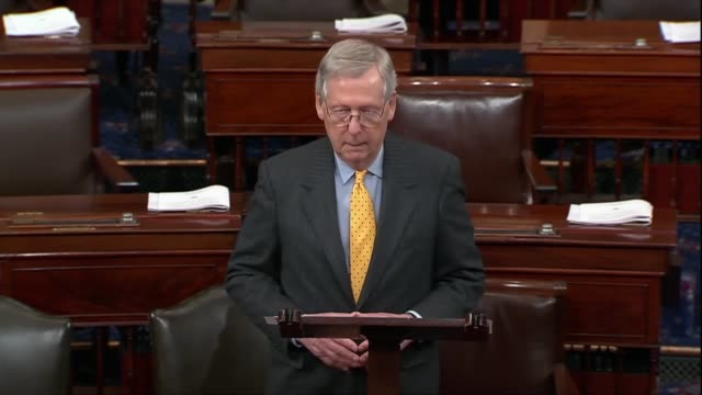 stockvideo's en b-roll-footage met kentucky senator mitch mcconnell argues on the floor that delaying key executive nominees does not come cost free to the country that andrew wheeler... - mileubeschermingorganisatie