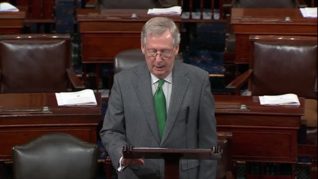 Kentucky Senator Mitch McConnell says a sixmonth the spending bill helps those caught in the grip of the opioid epidemic by scaling up research...