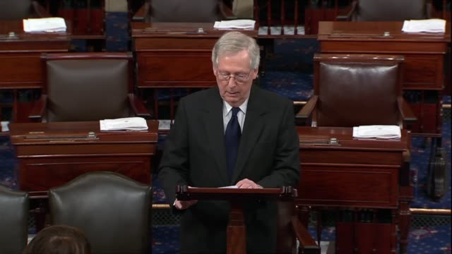 kentucky senator mitch mcconnell says days after george h.w. bush passed away that bush said the course, according to a biography or a key phrase for... - pacific war stock-videos und b-roll-filmmaterial