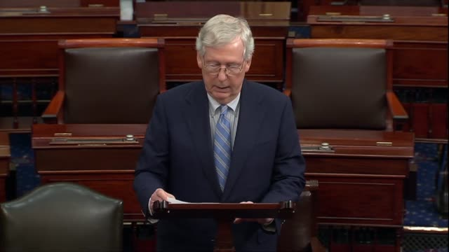 kentucky senator mitch mcconnell says of an impeachment inquiry authorized by speaker nancy pelosi that if you were expecting a clinic unfairness... - unfairness stock videos & royalty-free footage