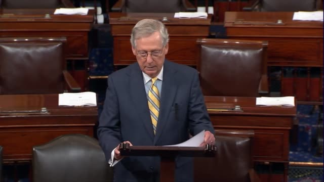 kentucky senator mitch mcconnell speaks on the floor after a revised version of the better care act designed to partially repeal and replace the... - medicaid stock videos and b-roll footage