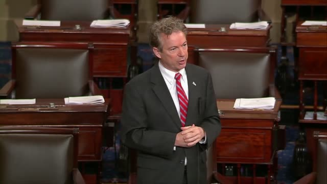kentucky senator rand paul argues during procedural debate on extending the foreign intelligence surveillance act that if americans get caught up in... - privacy stock videos & royalty-free footage