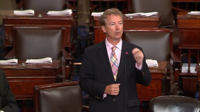 kentucky senator rand paul argues that republicans promised to repeal obamacare root and branch not block grant it that is amendment would allow... - senator stock videos & royalty-free footage