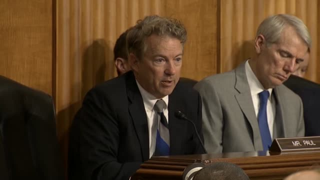 Kentucky Senator Rand Paul says at a Senate Foreign Relations Committee hearing that he commends Secretary of State Mike Pompeo for opening talks...