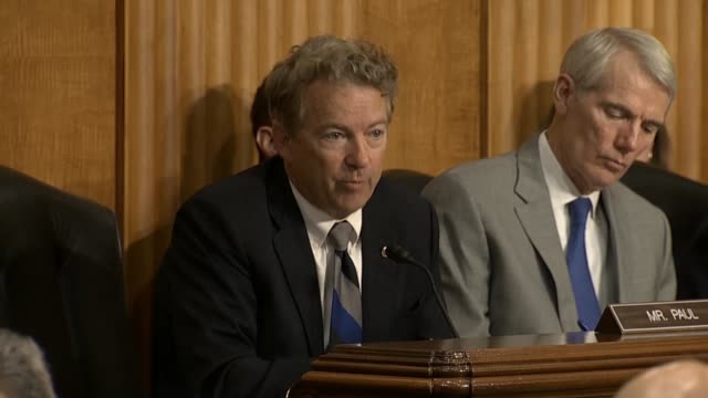 Kentucky Senator Rand Paul says at a Senate Foreign Relations Committee hearing with Secretary of State Mike Pompeo that he had criticisms of the...