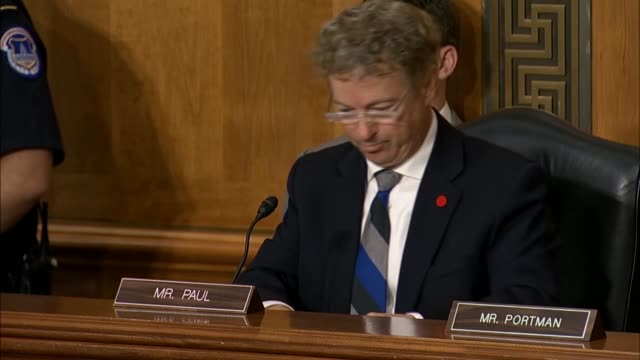 kentucky senator rand paul tells secretary of state mike pompeo at a senate foreign relations committee hearing that there was 1000 year religious or... - selling stock videos & royalty-free footage